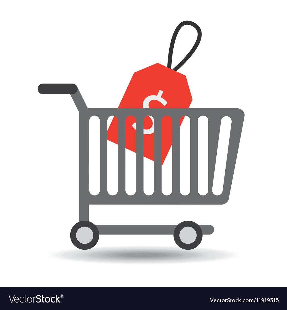 Buying cart sale money design