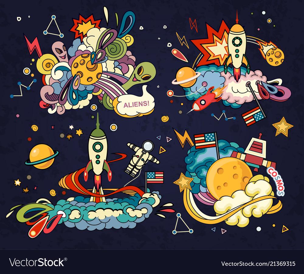 Cartoon of space