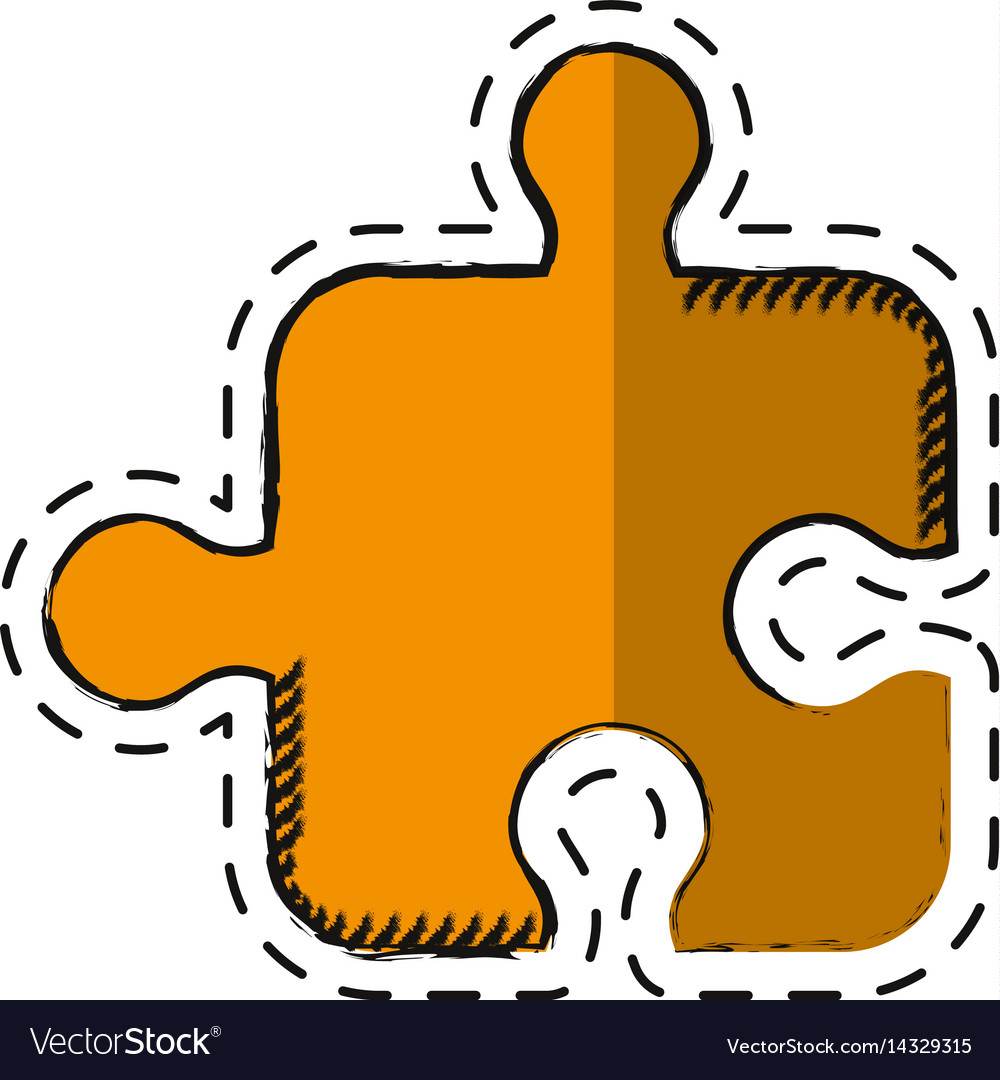 Cartoon puzzle strategy creativity abstract vector image