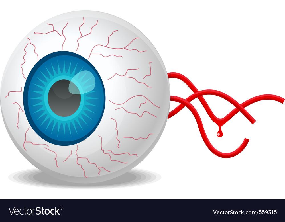 detached eyeball royalty free vector image vectorstock rh vectorstock com eyeball vector png free vector eyeball