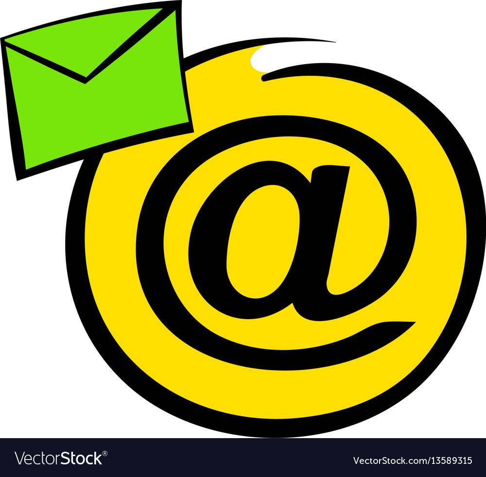 E-mail sign icon icon cartoon