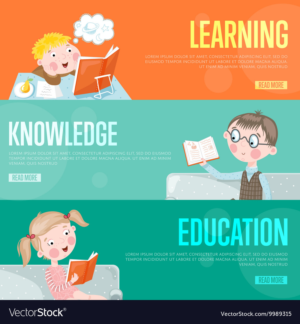 Education Infographics Concept Banners Royalty Free Vector