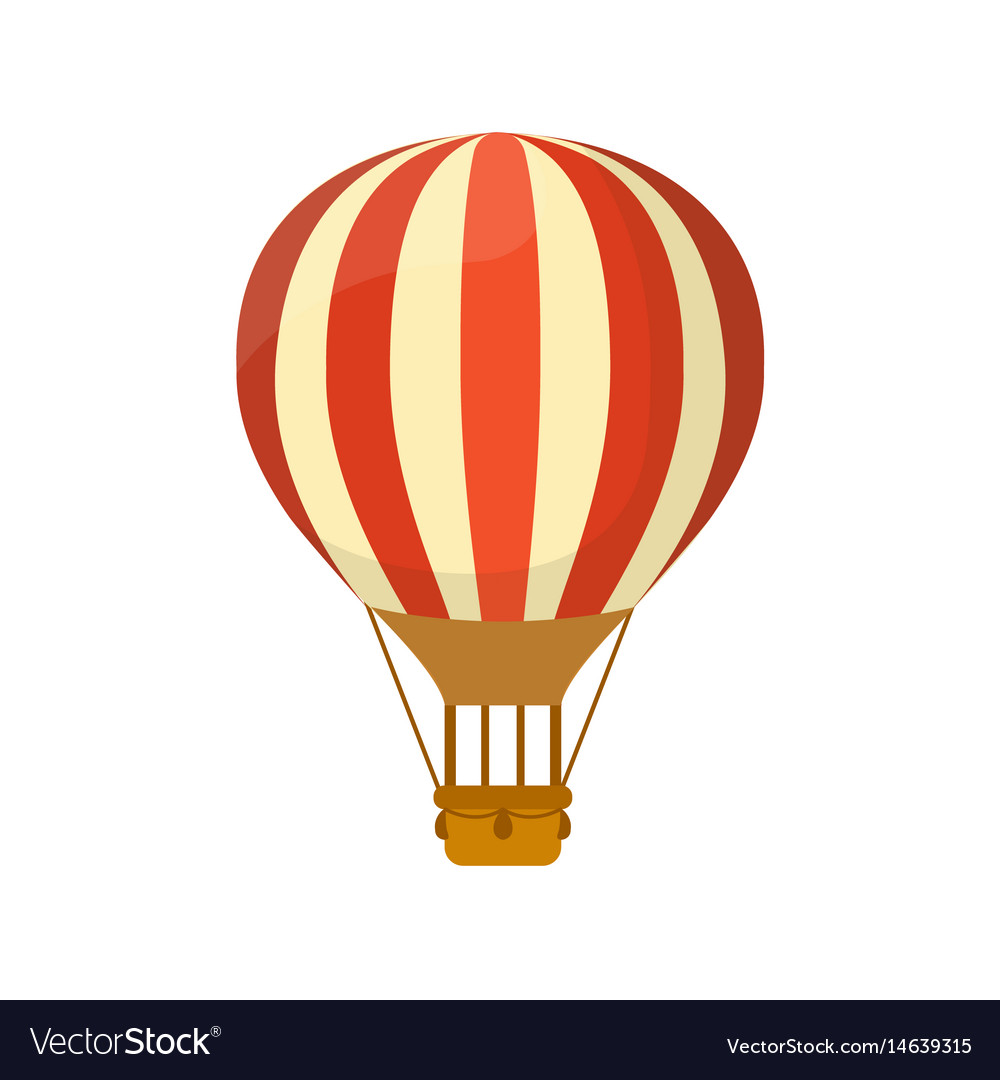 Flat Hot Air Balloon Symbol For Or Royalty Free Vector Image