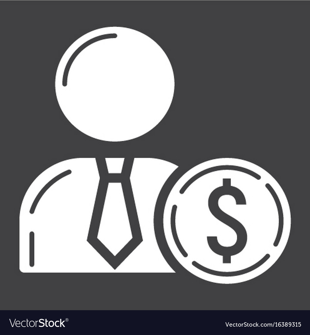 Investor glyph icon business and finance
