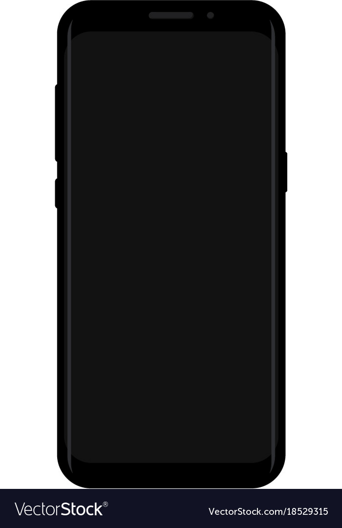 New version of smartphone with blank screen