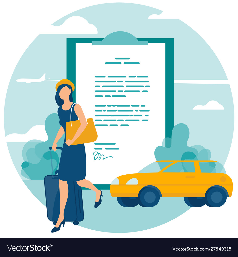 Travel and car insurance concept
