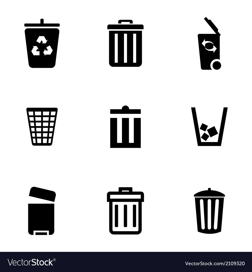 Recycle Trash Cans Sign Ilration