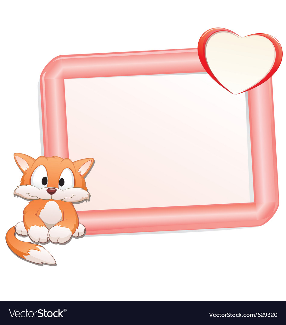 Cartoon cat with frame