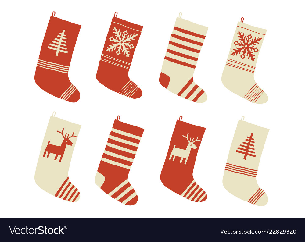 Christmas stockings various traditional colorful