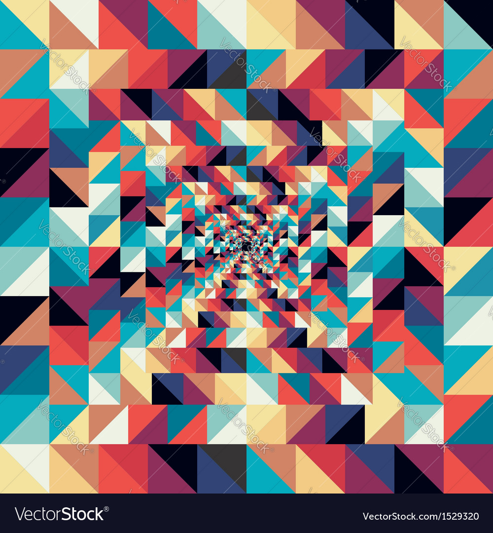 Colorful retro abstract visual effect seamless
