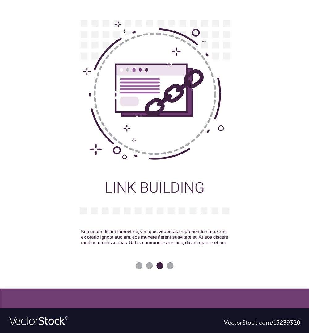 Link building seo keywording search banner with