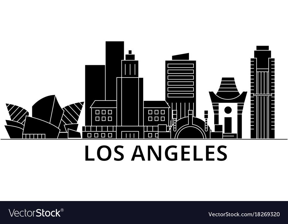 los angeles architecture city skyline royalty free vector rh vectorstock com city skyline vector art free city skyline vector art free