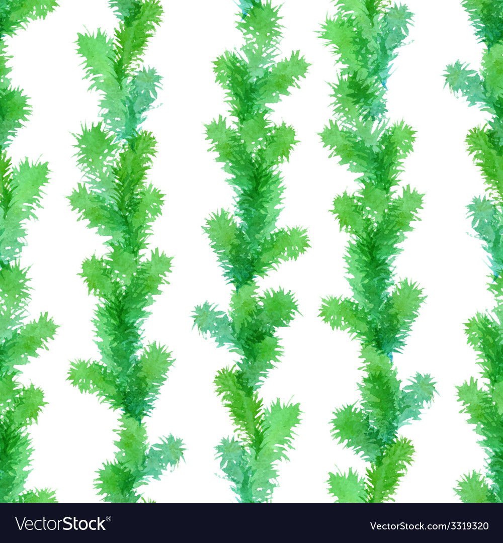 Seamless evergreen pattern vector image