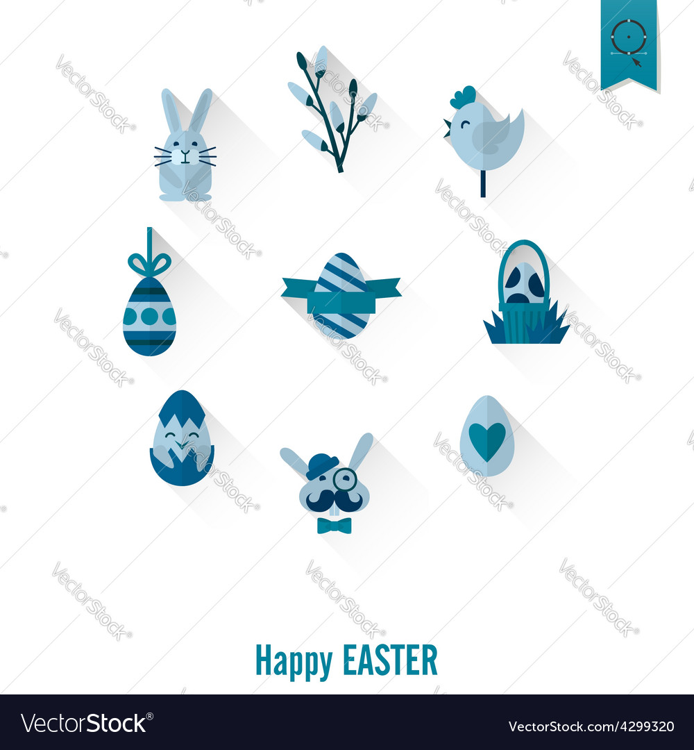 Set of the Easter Icons