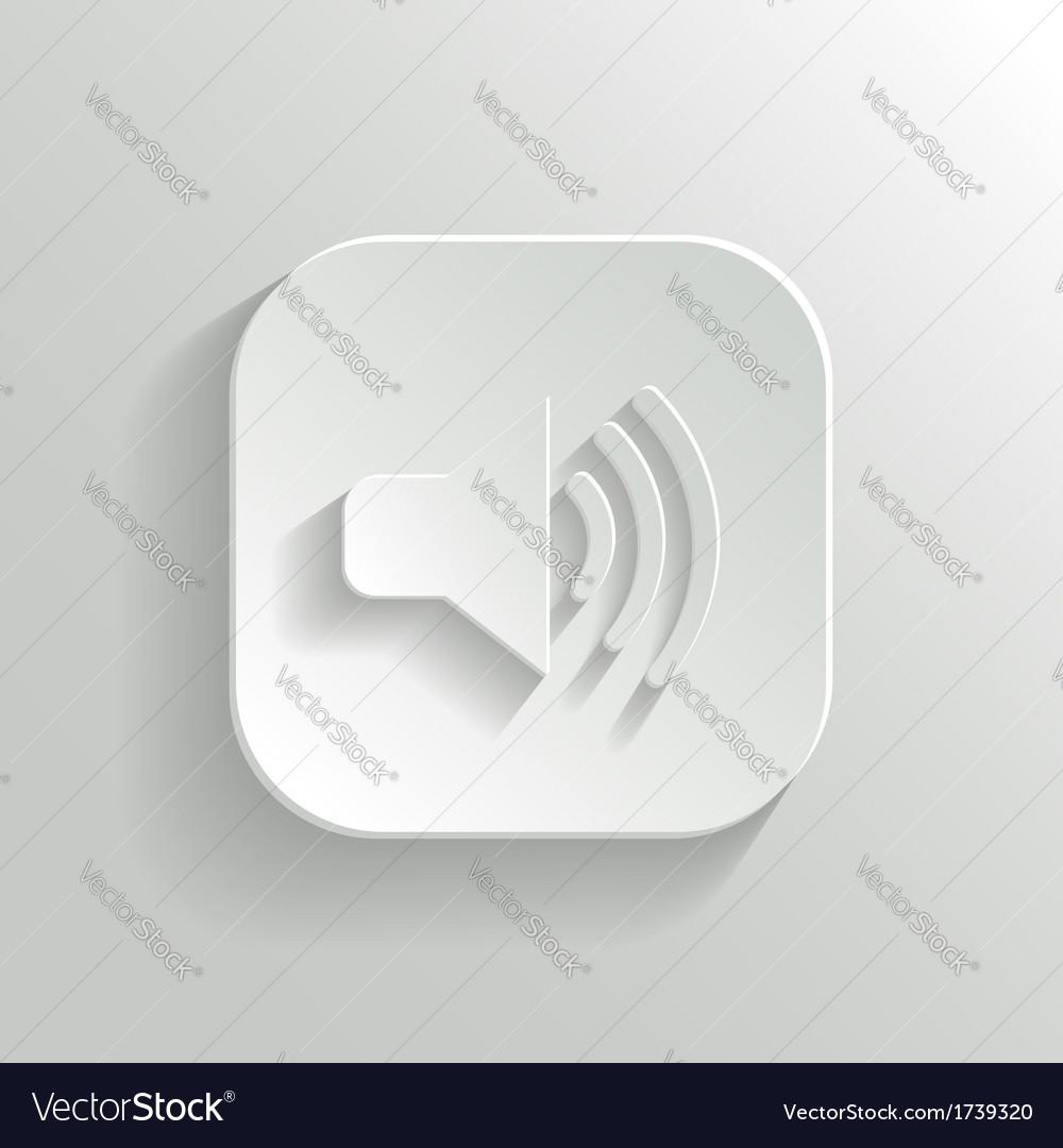 Speaker icon - white app button