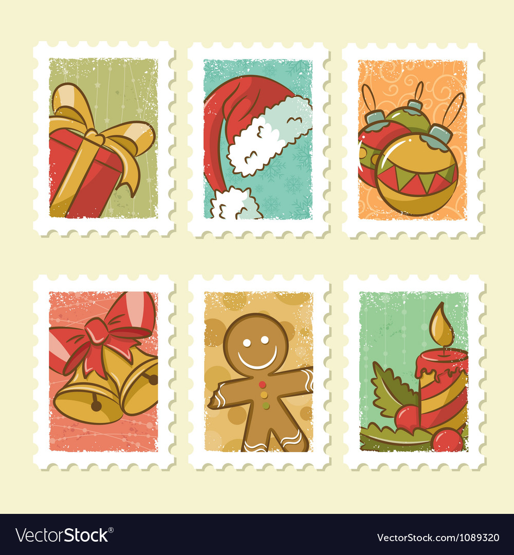 Christmas Stamps.Vintage Christmas Stamps Collection