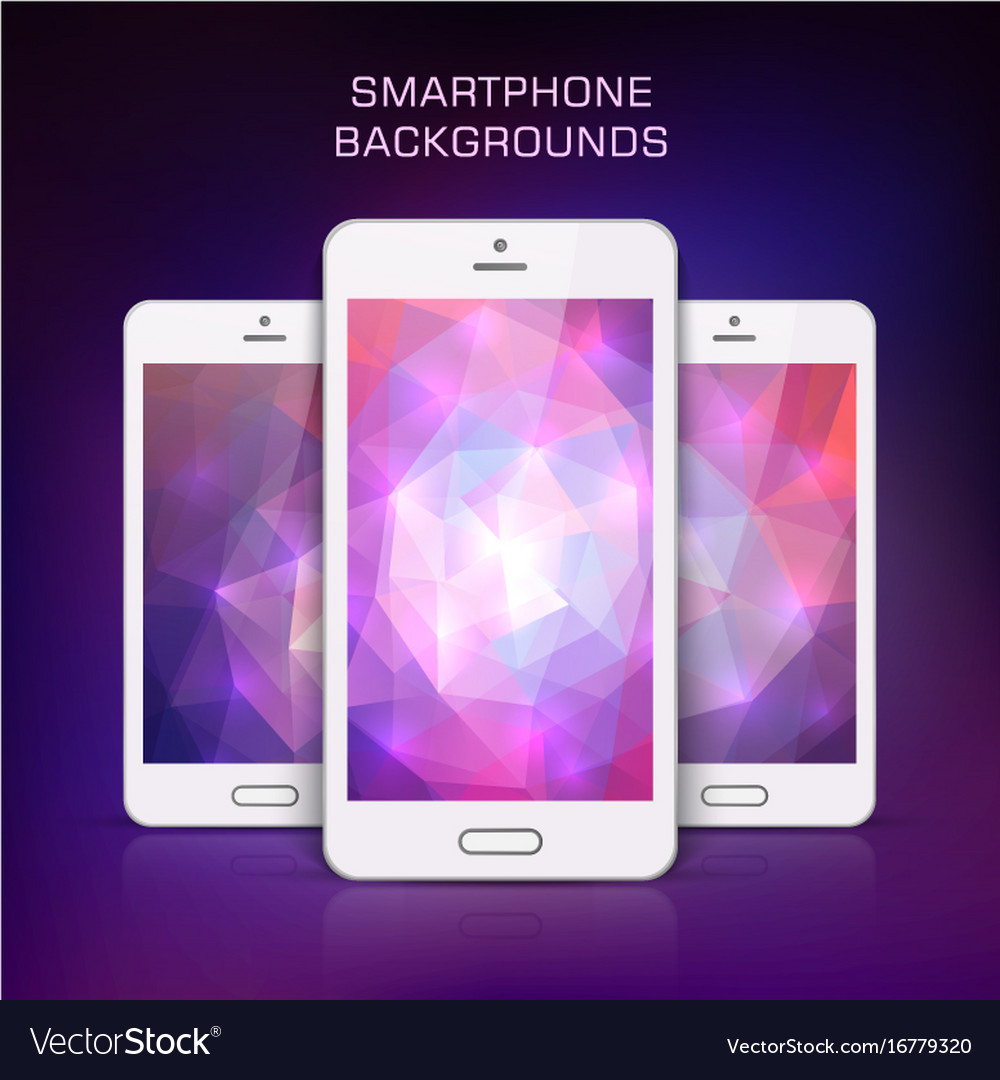 White mobile phone template vector image