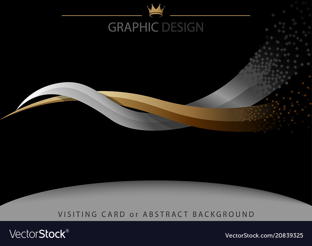 Abstract background with two intertwined stripes vector image