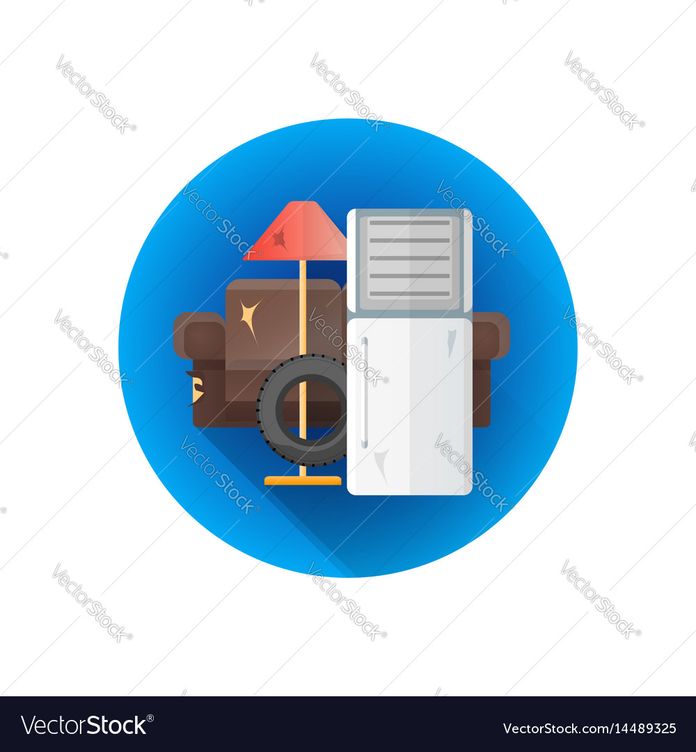Bulky waste garbage icon vector image