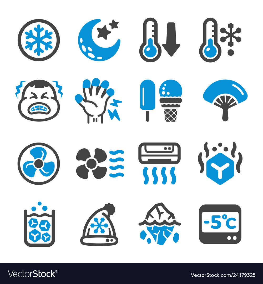 Cool icon set vector