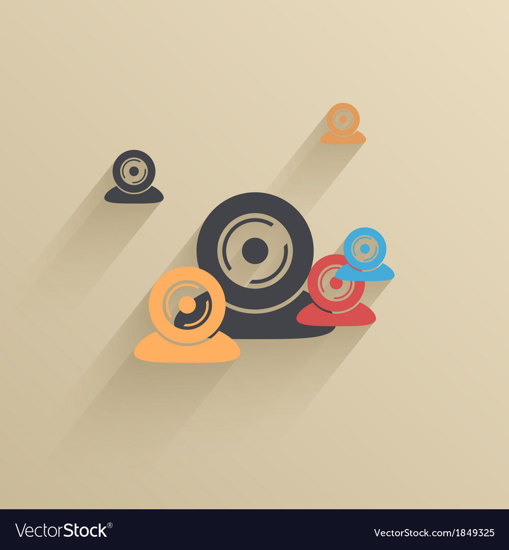 Creative flat ui icon background Eps 10