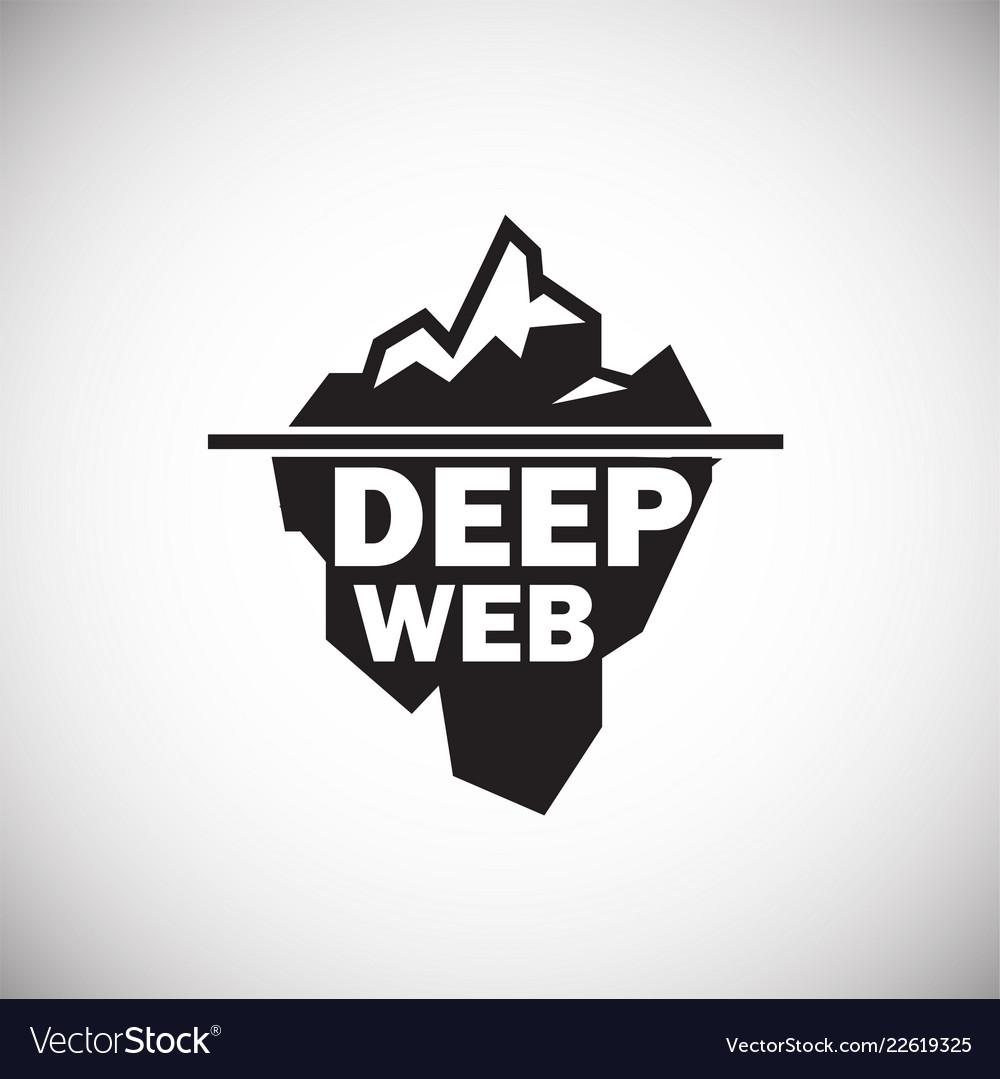 Deep web icon on white background