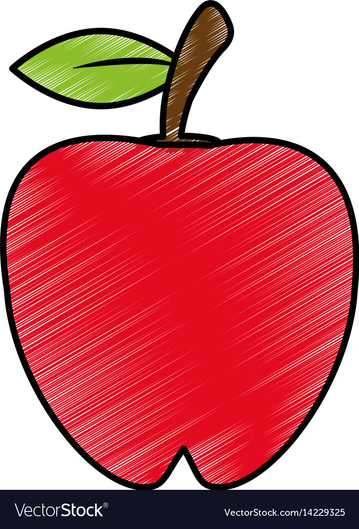 Drawing Apple Food Nutrition Royalty Free Vector Image