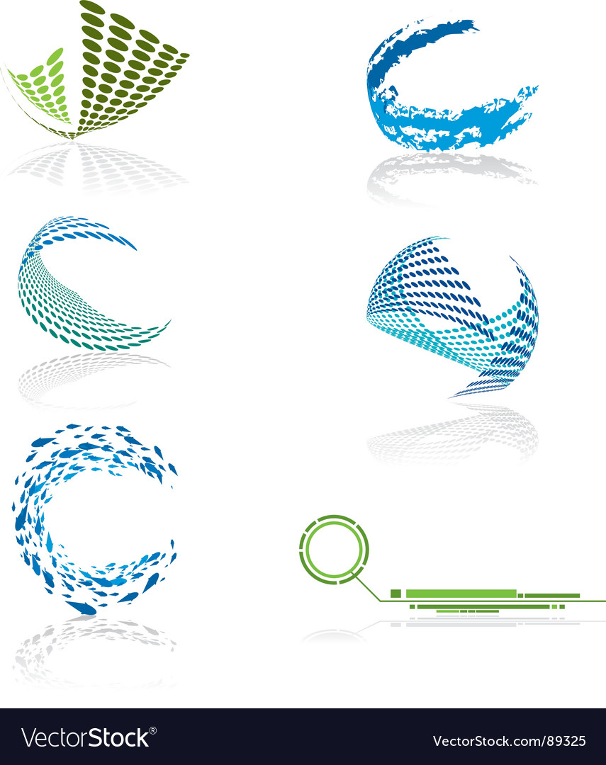 Halftone icons vector image