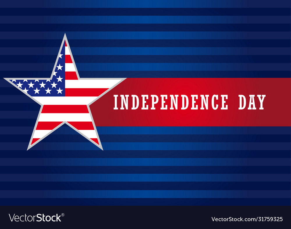 Independence day usa star banner
