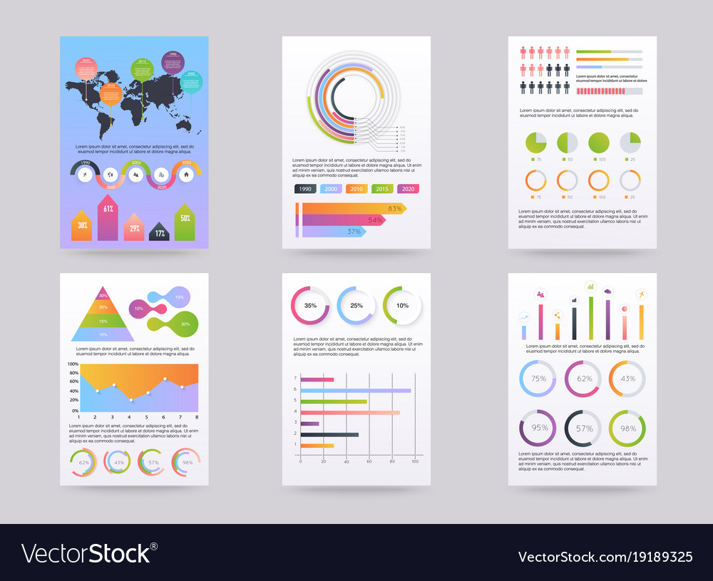 Set of brohucres with infographic elements in