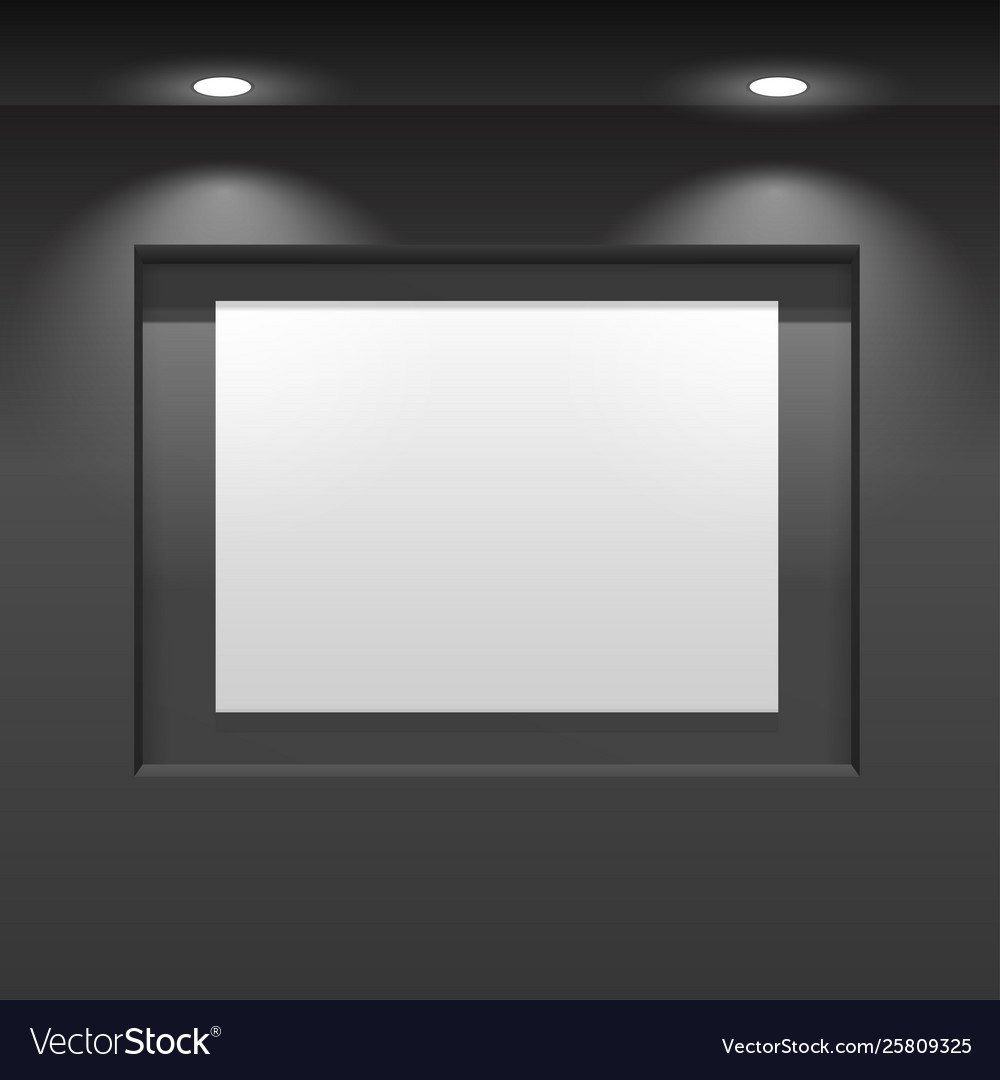 Showroom panel vertical poster hanging on the