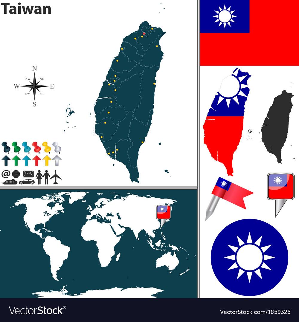 Taiwan map world