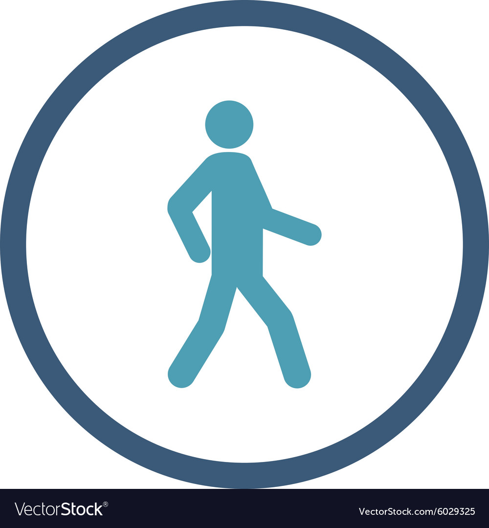walking icon royalty free vector image vectorstock vectorstock