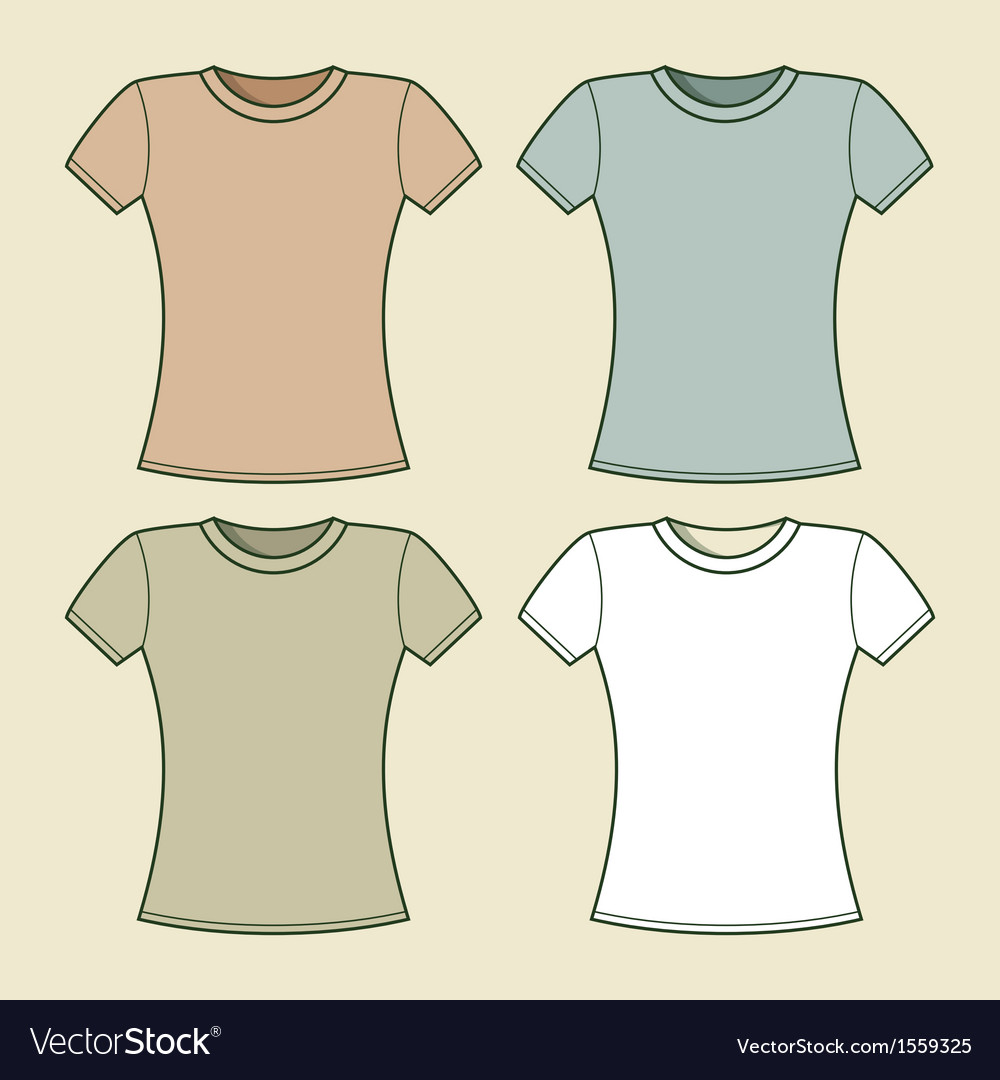 Women t-shirts template