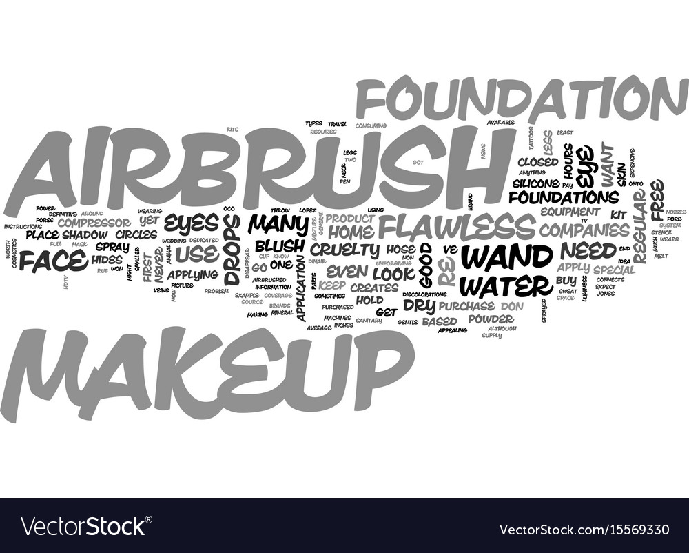Airbrush Makeup Text Word Cloud Concept