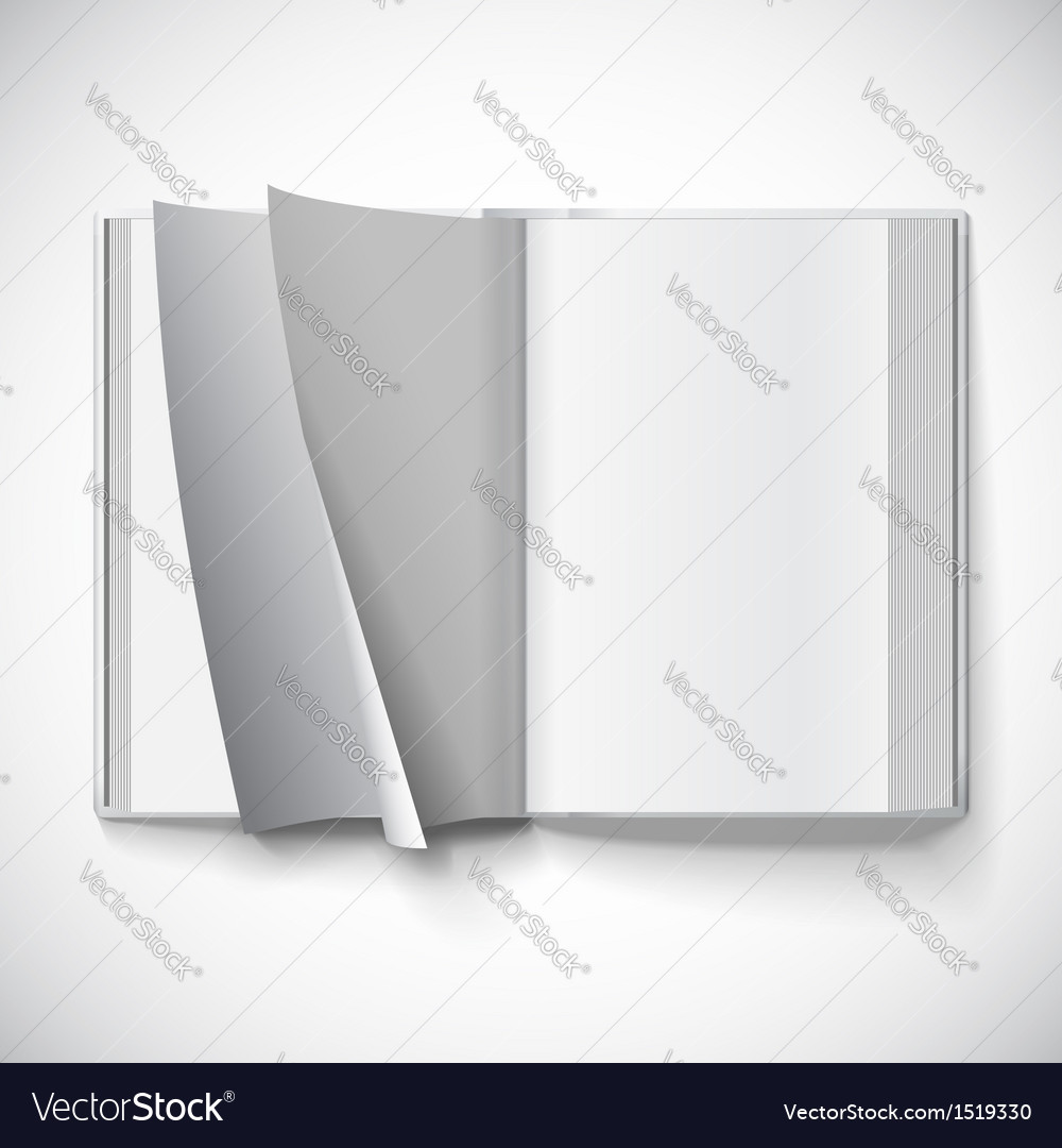 Blank open book turn the pages with gradient mesh