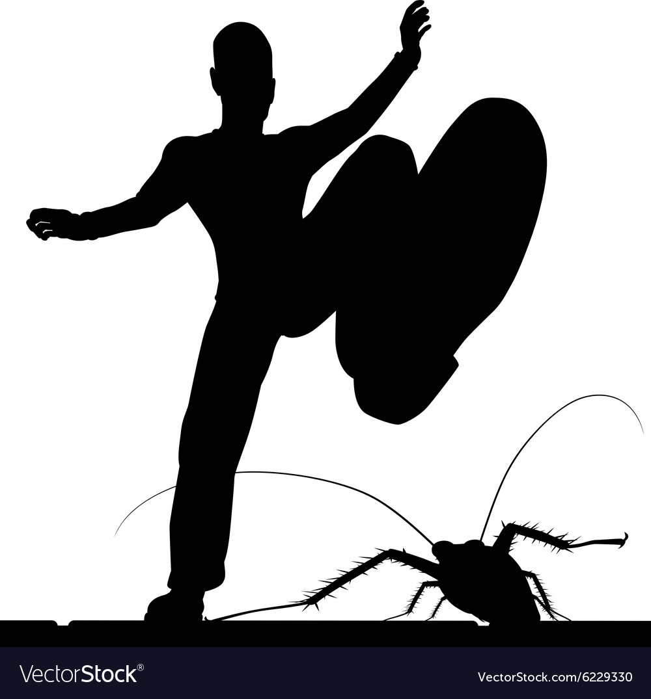 Bug control vector image