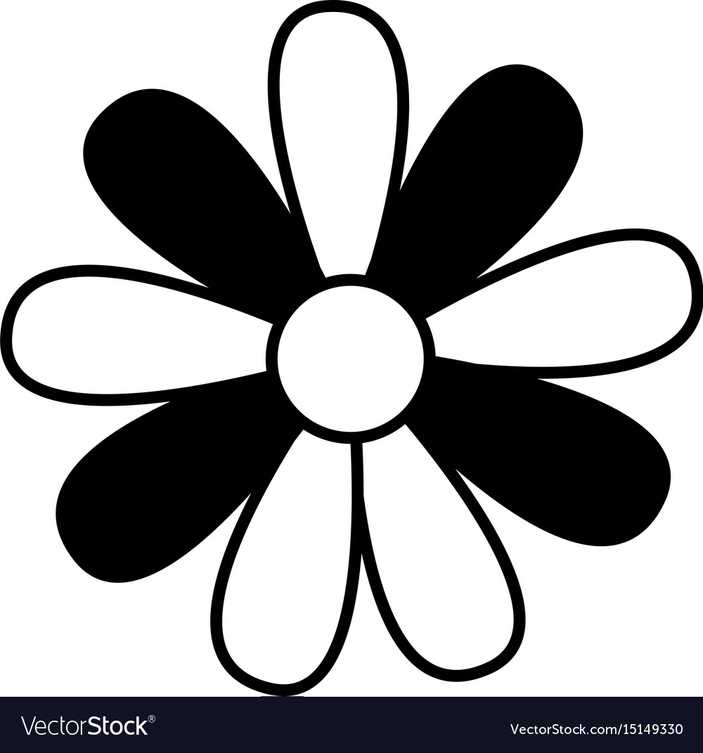 Cute Flower Drawing Decorative Vector Image