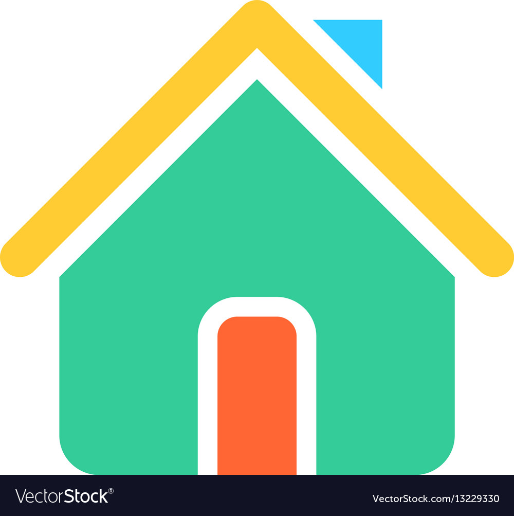 flat home icon house sign web internet button vector image rh vectorstock com home icon vector house icon vector free