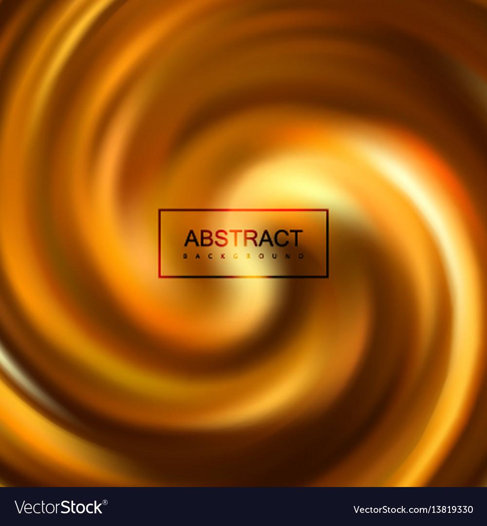 Golden swirling caramel whirlpool