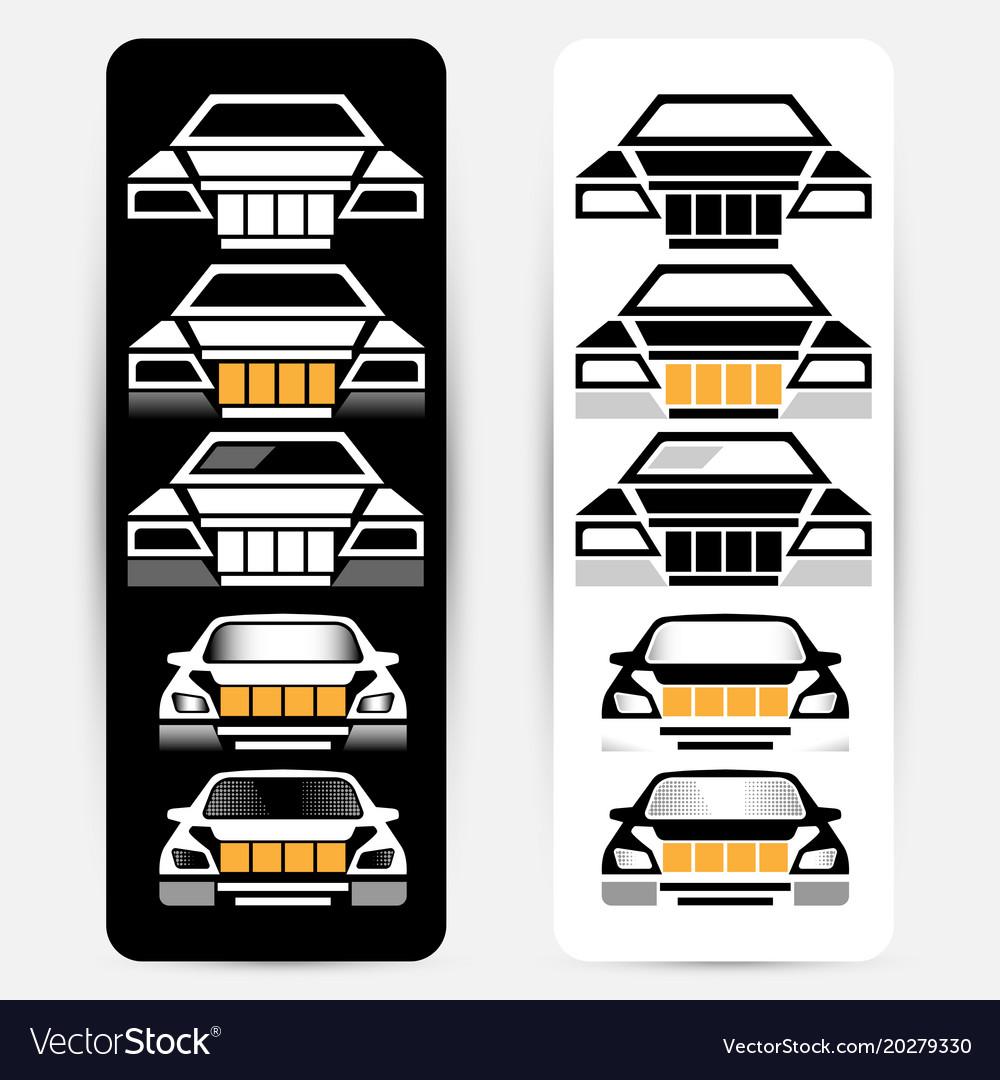 Passenger car silhouettes