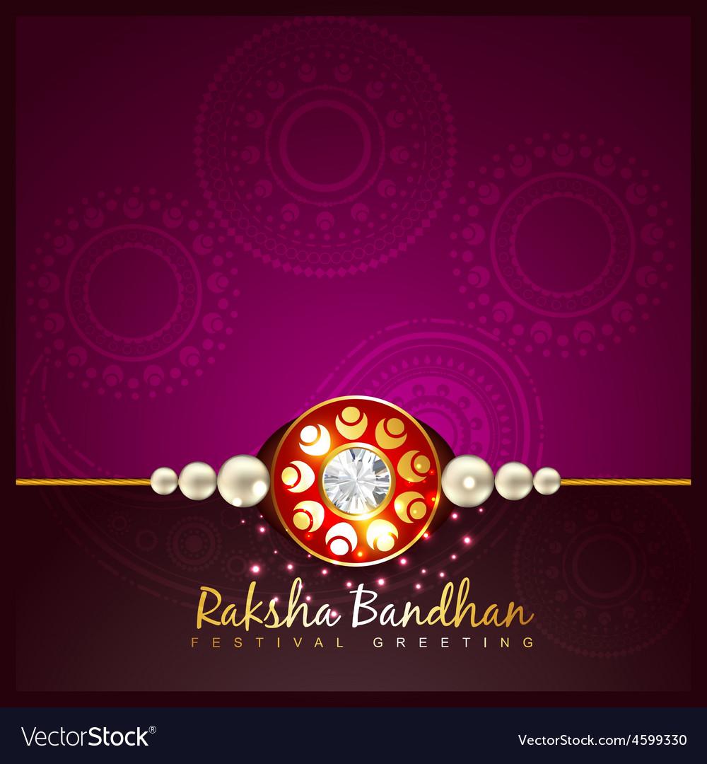 Raksha bandhan festival background Royalty Free Vector Image