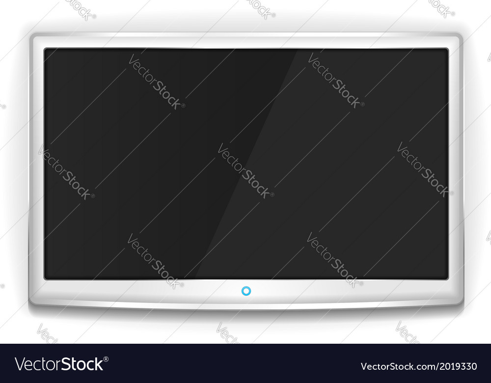 White TV vector image