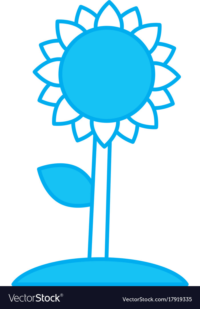 Beautiful Sunflower Symbol Royalty Free Vector Image