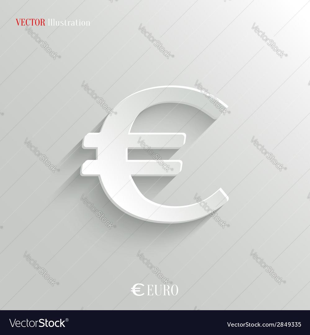Euro Icon - white app button