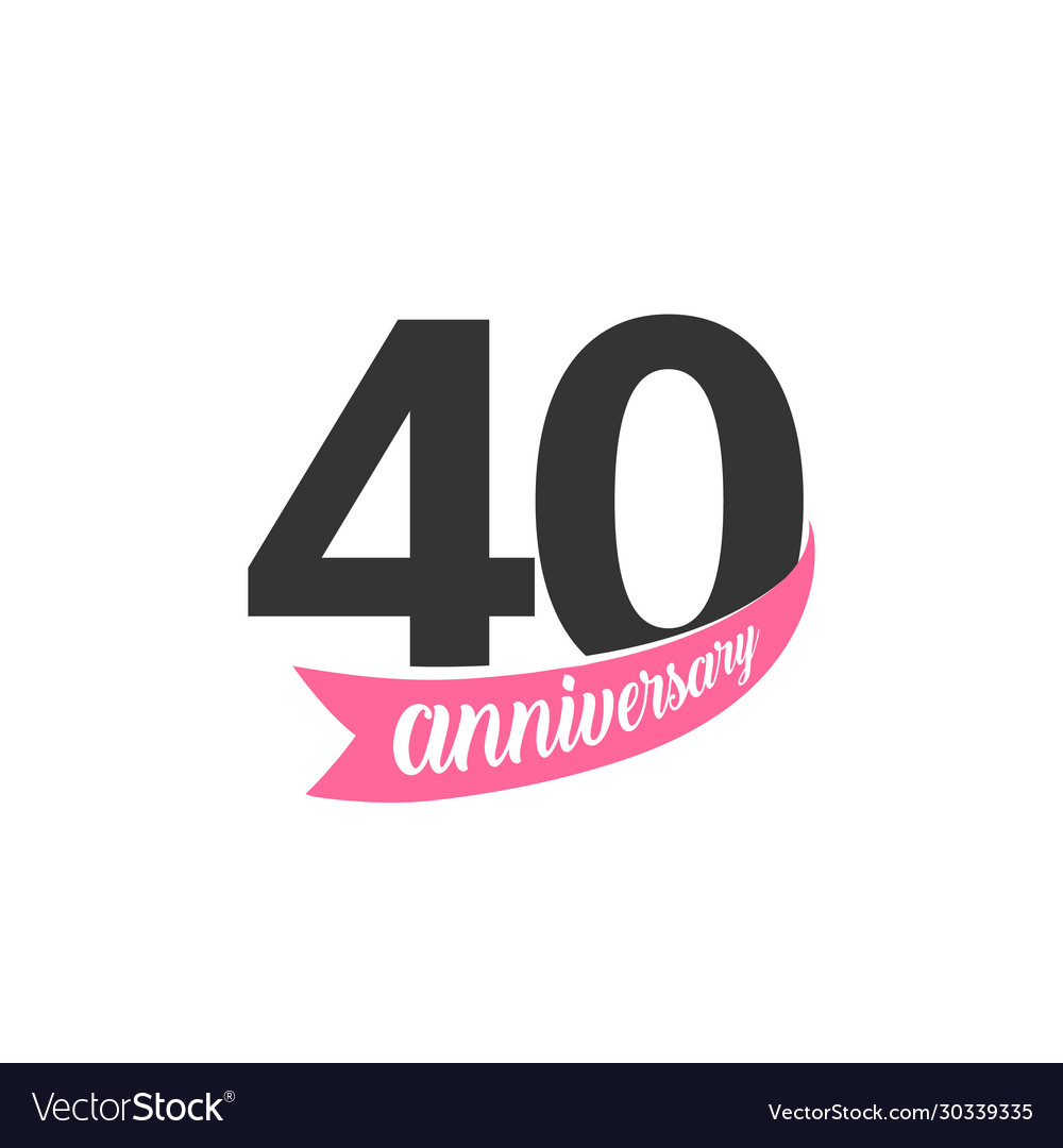 Fortieth anniversary logo number 40