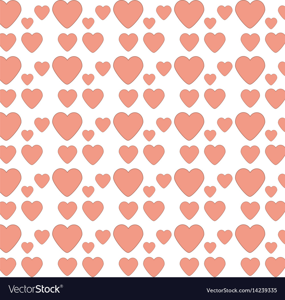 Heart love decoration seamless pattern