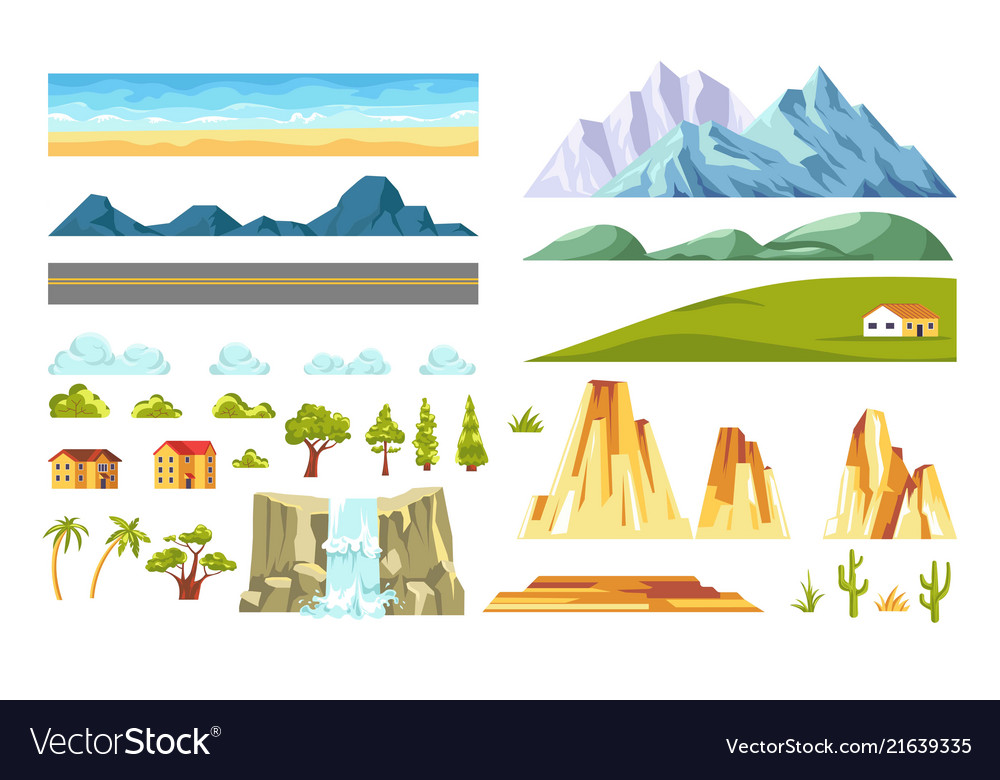 Landscape constructor isolated elements