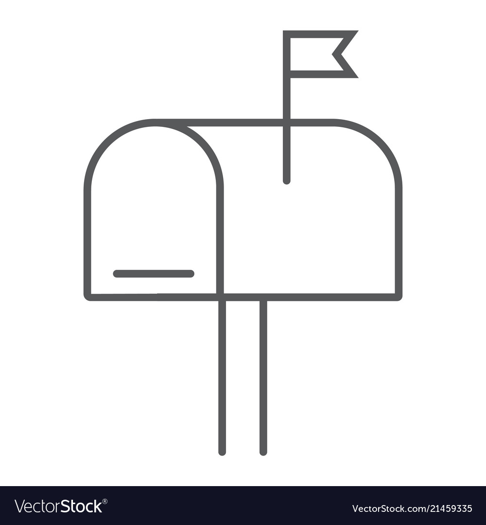 Mail Box Thin Line Icon Letter And Post Mailbox Vector Image