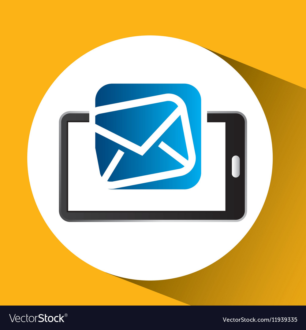 Mobile phone icon email social media